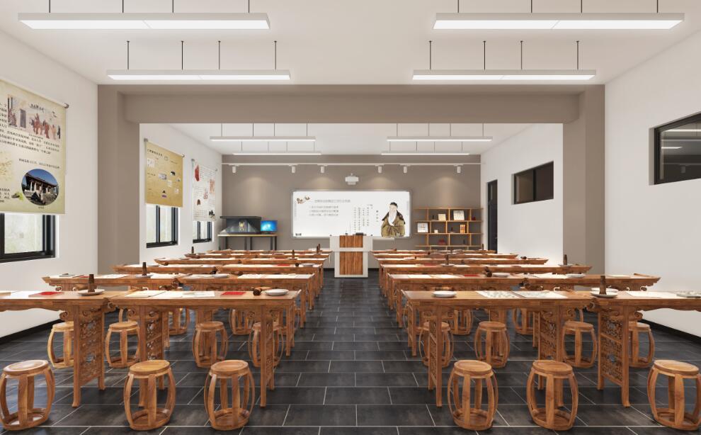 中教启星历史教室的设计风格多样:有充满传统文化气息的中式风格;有适